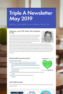 Triple A Newsletter May 2019