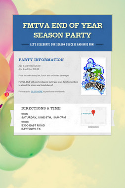 FMTVA End of Year Season Party