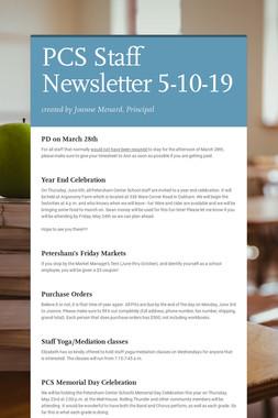 PCS Staff Newsletter 5-10-19