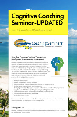 Cognitive Coaching Seminar-UPDATED