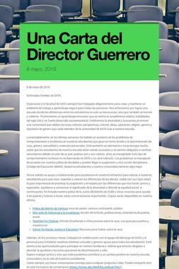Una Carta del Director Guerrero