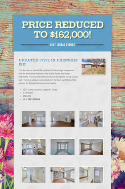 Price Reduced to $162,000!
