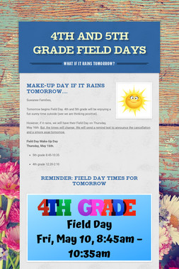 4th and 5th grade Field Days