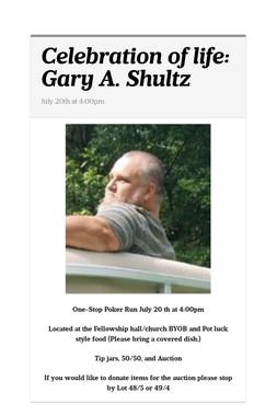 Celebration of life: Gary A. Shultz