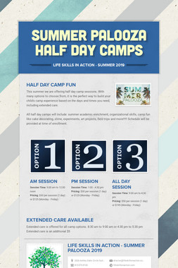 Summer Palooza Half Day Camps