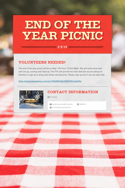 End of the Year Picnic