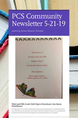 PCS Community Newsletter 5-21-19
