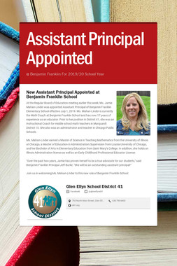 Assistant Principal Appointed