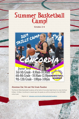Summer Basketball Camp!
