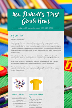 Ms. Dahedl's First Grade News