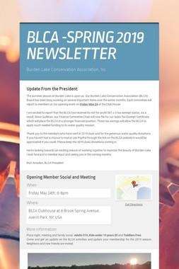 BLCA -SPRING 2019 NEWSLETTER