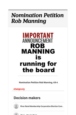 Nomination Petition Rob Manning