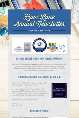 Lynx Lane Annual Newsletter