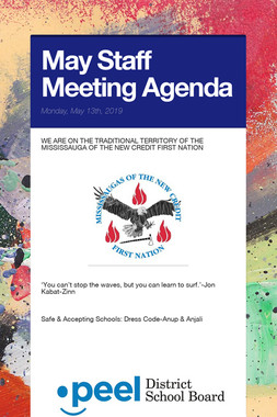 May Staff Meeting Agenda