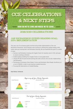 CCE Celebrations & Next Steps