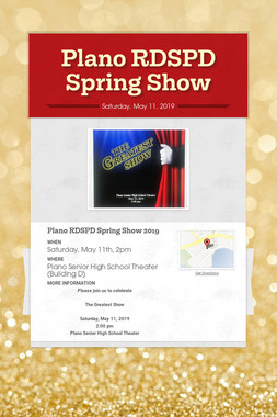 Plano RDSPD Spring Show