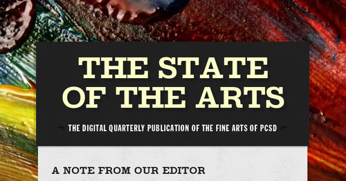 The State of the Arts | Smore Newsletters for Education