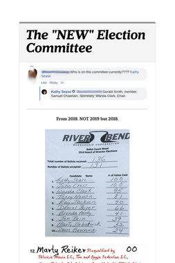 """The """"NEW"""" Election Committee"""