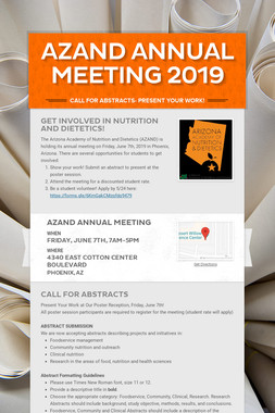 AZAND Annual Meeting 2019