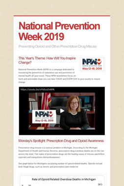 National Prevention Week 2019