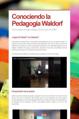 Conociendo la Pedagogía Waldorf