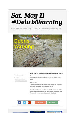 Sat, May 11 #DebrisWarning
