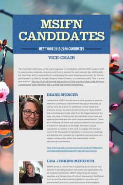 MSIFN Candidates