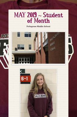 MAY 2019 ~ Student of Month