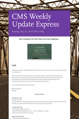 CMS Weekly Update Express
