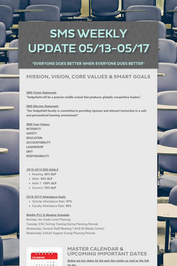 SMS Weekly Update 05/13-05/17