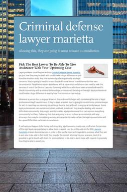 Criminal defense lawyer marietta