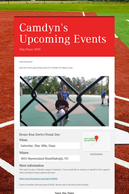 Camdyn's Upcoming Events