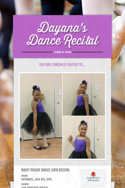 Dayana's Dance Recital