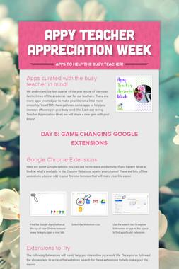Appy Teacher Appreciation Week