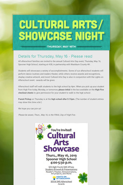 Cultural Arts/ Showcase Night