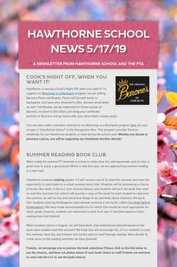 Hawthorne School News 5/17/19