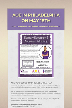 AOE in Philadelphia on May 18th