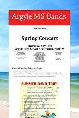 Argyle MS Bands