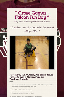 * Grove Games - Falcon Fun Day *
