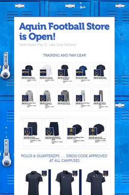 Aquin Football Store is Open!