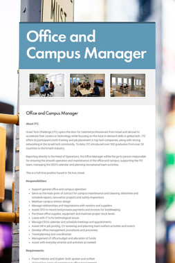 Office and Campus Manager