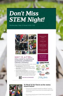Don't Miss STEM Night!