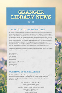 Granger Library News