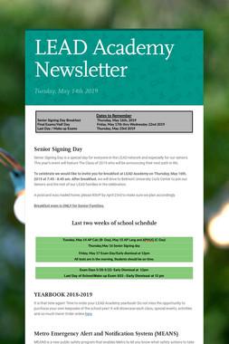 LEAD Academy Newsletter