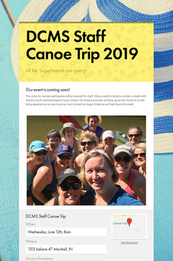 DCMS Staff Canoe Trip 2019