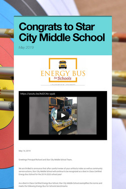 Congrats to Star City Middle School