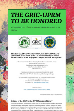 THE GRIC-UPRM TO BE HONORED