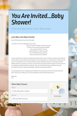 You Are Invited...Baby Shower!
