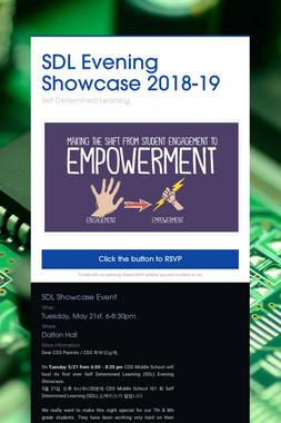 SDL Evening Showcase 2018-19