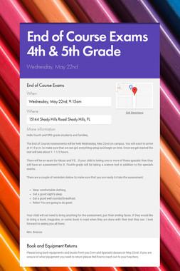 End of Course Exams 4th & 5th Grade